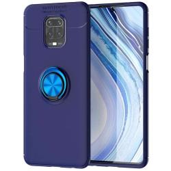 Funda Magnetica Soporte con Anillo Giratorio 360 para Xiaomi Redmi Note 9S / Note 9 Pro Azul