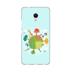 Funda Gel Tpu para Meizu M5S Diseño Familia Dibujos