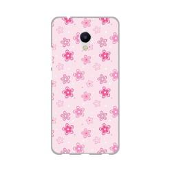Funda Gel Tpu para Meizu M5S Diseño Flores Dibujos