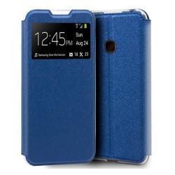 Funda Libro Soporte con Ventana para Alcatel 1s 2020 Color Azul