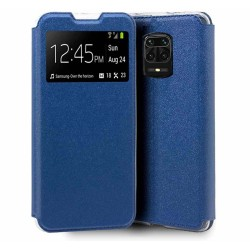 Funda Libro Soporte con Ventana para Xiaomi Redmi Note 9S / Note 9 Pro Color Azul