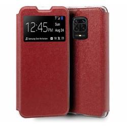 Funda Libro Soporte con Ventana para Xiaomi Redmi Note 9S / Note 9 Pro Color Roja