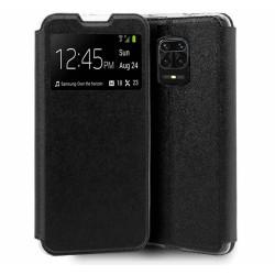 Funda Libro Soporte con Ventana para Xiaomi Redmi Note 9S / Note 9 Pro Color Negra