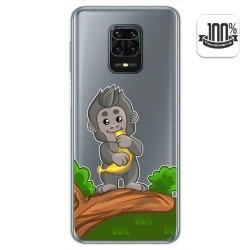 Funda Gel Transparente para Xiaomi Redmi Note 9S / Note 9 Pro diseño Mono Dibujos