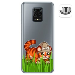 Funda Gel Transparente para Xiaomi Redmi Note 9S / Note 9 Pro diseño Tigre Dibujos