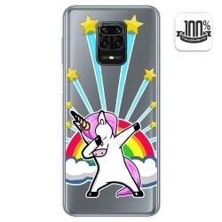 Funda Gel Transparente para Xiaomi Redmi Note 9S / Note 9 Pro diseño Unicornio Dibujos