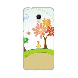Funda Gel Tpu para Meizu M5S Diseño Primavera Dibujos
