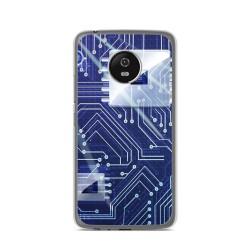 Funda Gel Tpu para Lenovo Moto G5 Diseño Circuito Dibujos