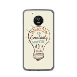 Funda Gel Tpu para Lenovo Moto G5 Diseño Creativity Dibujos