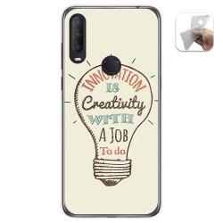 Funda Gel Tpu para Alcatel 1S 2020 / 3L 2020 diseño Creativity Dibujos