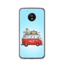 Funda Gel Tpu para Lenovo Moto G5 Diseño Furgoneta Dibujos