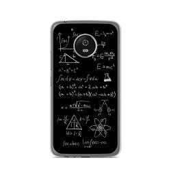Funda Gel Tpu para Lenovo Moto G5 Diseño Formulas Dibujos