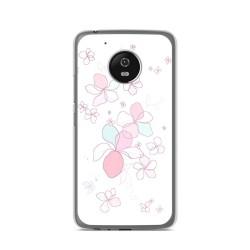 Funda Gel Tpu para Lenovo Moto G5 Diseño Flores Minimal Dibujos