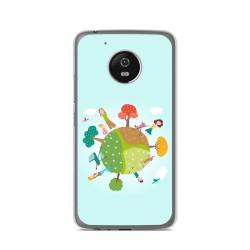 Funda Gel Tpu para Lenovo Moto G5 Diseño Familia Dibujos