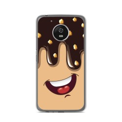 Funda Gel Tpu para Lenovo Moto G5 Diseño Helado Chocolate Dibujos