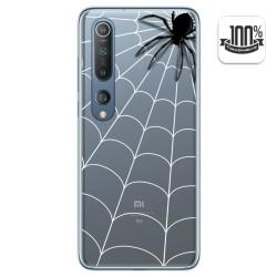 Funda Gel Transparente para Xiaomi Mi 10 / Mi 10 Pro diseño Araña Dibujos