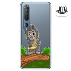 Funda Gel Transparente para Xiaomi Mi 10 / Mi 10 Pro diseño Mono Dibujos