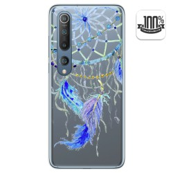 Funda Gel Transparente para Xiaomi Mi 10 / Mi 10 Pro diseño Plumas Dibujos
