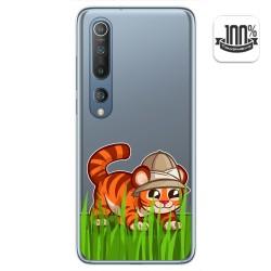 Funda Gel Transparente para Xiaomi Mi 10 / Mi 10 Pro diseño Tigre Dibujos