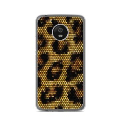 Funda Gel Tpu para Lenovo Moto G5 Diseño Leopardo Dibujos
