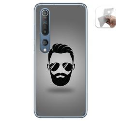 Funda Gel Tpu para Xiaomi Mi 10 / Mi 10 Pro diseño Barba Dibujos
