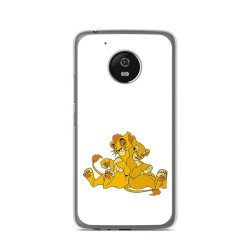 Funda Gel Tpu para Lenovo Moto G5 Diseño Leones Dibujos
