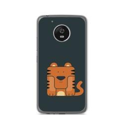 Funda Gel Tpu para Lenovo Moto G5 Diseño Tigre Dibujos