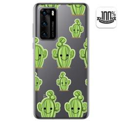 Funda Gel Transparente para Huawei P40 diseño Cactus Dibujos