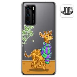 Funda Gel Transparente para Huawei P40 diseño Jirafa Dibujos