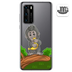 Funda Gel Transparente para Huawei P40 diseño Mono Dibujos