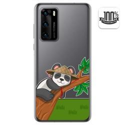 Funda Gel Transparente para Huawei P40 diseño Panda Dibujos