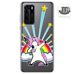 Funda Gel Transparente para Huawei P40 diseño Unicornio Dibujos