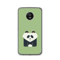 Funda Gel Tpu para Lenovo Moto G5 Diseño Panda Dibujos