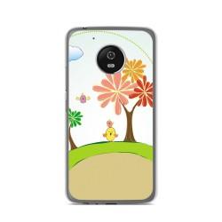 Funda Gel Tpu para Lenovo Moto G5 Diseño Primavera Dibujos