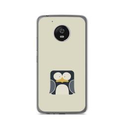 Funda Gel Tpu para Lenovo Moto G5 Diseño Pingüino Dibujos
