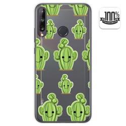 Funda Gel Transparente para Huawei P40 Lite E diseño Cactus Dibujos
