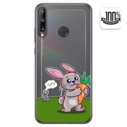 Funda Gel Transparente para Huawei P40 Lite E diseño Conejo Dibujos