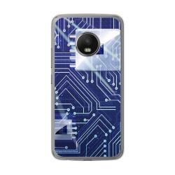 Funda Gel Tpu para Lenovo Moto G5 Plus Diseño Circuito Dibujos