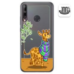 Funda Gel Transparente para Huawei P40 Lite E diseño Jirafa Dibujos
