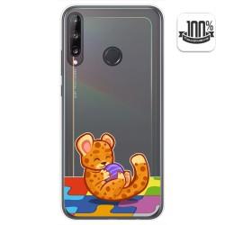 Funda Gel Transparente para Huawei P40 Lite E diseño Leopardo Dibujos