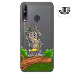 Funda Gel Transparente para Huawei P40 Lite E diseño Mono Dibujos