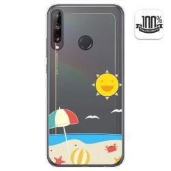 Funda Gel Transparente para Huawei P40 Lite E diseño Playa Dibujos