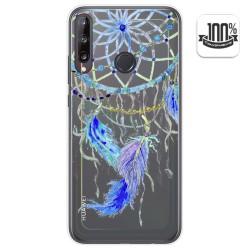 Funda Gel Transparente para Huawei P40 Lite E diseño Plumas Dibujos