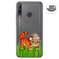 Funda Gel Transparente para Huawei P40 Lite E diseño Tigre Dibujos