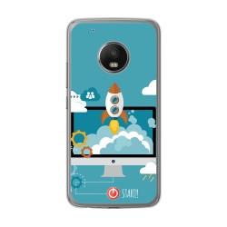 Funda Gel Tpu para Lenovo Moto G5 Plus Diseño Cohete Dibujos