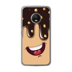 Funda Gel Tpu para Lenovo Moto G5 Plus Diseño Helado Chocolate Dibujos