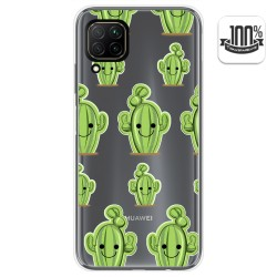Funda Gel Transparente para Huawei P40 Lite diseño Cactus Dibujos
