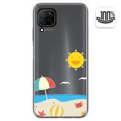 Funda Gel Transparente para Huawei P40 Lite diseño Playa Dibujos