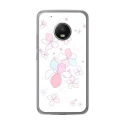Funda Gel Tpu para Lenovo Moto G5 Plus Diseño Flores Minimal Dibujos