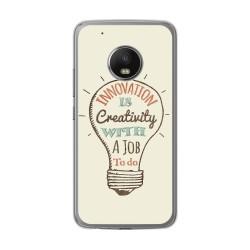 Funda Gel Tpu para Lenovo Moto G5 Plus Diseño Creativity Dibujos